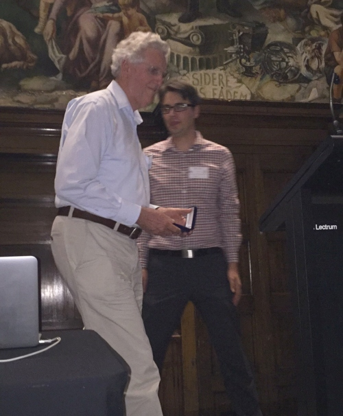 Roy Axelsen receiving Page Medal 2016