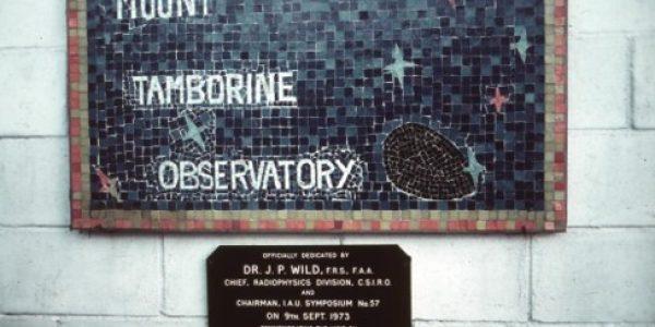 Arthur Page Mt Tambourine Observatory Plaque
