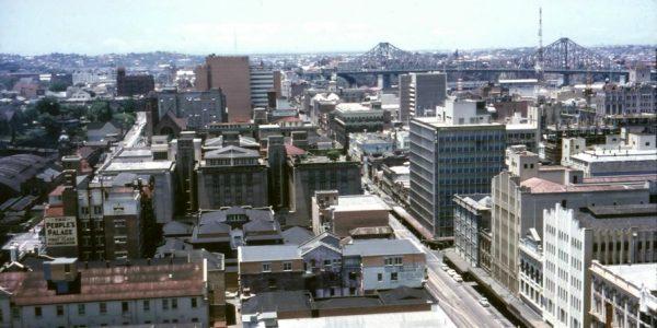Brisbane Skyline from the City Hall clock tower November 1964