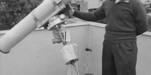 Peter Smith and 6 inch F11.5 reflector July 1961