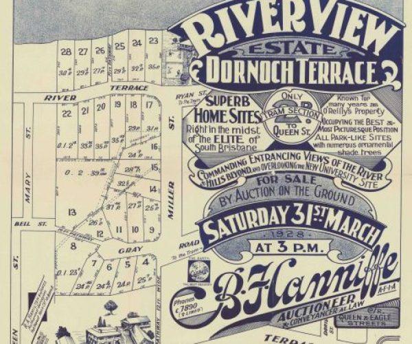 Riverview-estate Dornoch-Terrace 1928 land sale