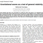 Gravitational waves as a test of general relativity