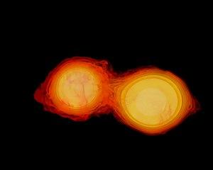 Binary Star Merger Simulation